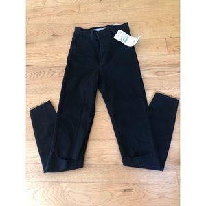 Zara high rise black jeans